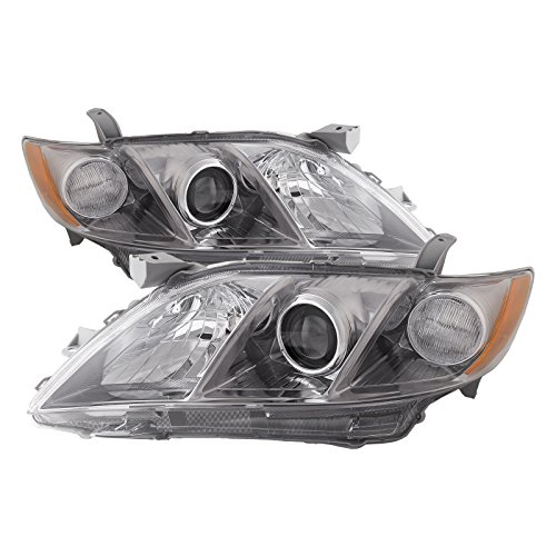 HEADLIGHTSDEPOT Halogen Headlights Compatible With Toyota Camry 2007-2009 Base/LE/XLE Models USA Built Includes Left Driver and Right Passenger Side Headlamps