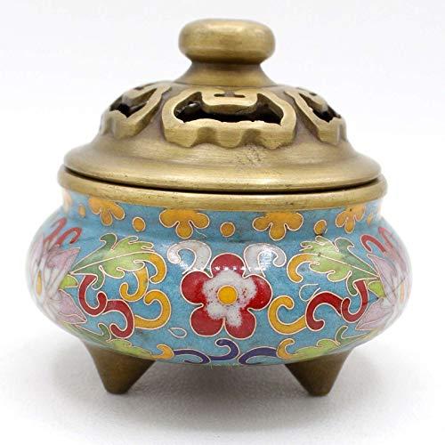 Cloisonné Räuchergefäß (10cm) Chinesische Räucher Schale Bronze China - Asien Lifestyle