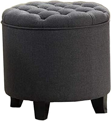 Fantastic Amazon Com Homepop Velvet Button Tufted Round Storage Gmtry Best Dining Table And Chair Ideas Images Gmtryco