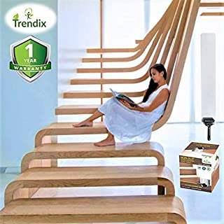 Stair Treads Non-Slip Tape Anti Skid Clear Grip Adhesive Step Cover Strips Indoor Wood Safety Floor Dog Kids Pet Waterproof Transparent PVC Free Staircase Hardwood (15 Pieces of 30x6 inches + Roller)