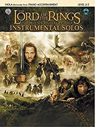 The Lord of the Rings Instrumental Solos - Best Play Along Beginner Music Books for Viola