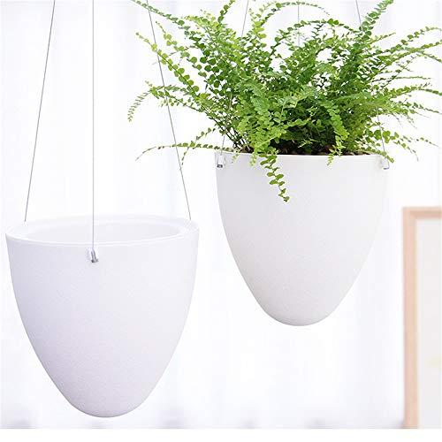 Opknoping Planter Vase 2 Pack Flower Pot Holder plafond Outdoor Tuin Balkon Decoratieve Opknoping Basket Holder Touw Opknoping Planter Muur hangplant Houders Huisdecoratie