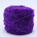 200 Gram DIY Knitting Plush Yarn Furry Eyelash...