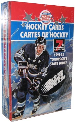 1991-92 Tomorrow's Stars Today 7th Inning Stretch Hockey-Karten (1 Fabrik versiegelte Hülle)
