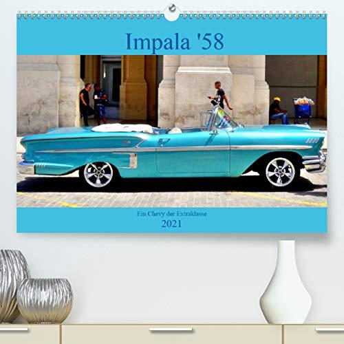 Impala \'58 - Ein Chevy der Extraklasse (Premium, hochwertiger DIN A2 Wandkalender 2021, Kunstdruck in Hochglanz)