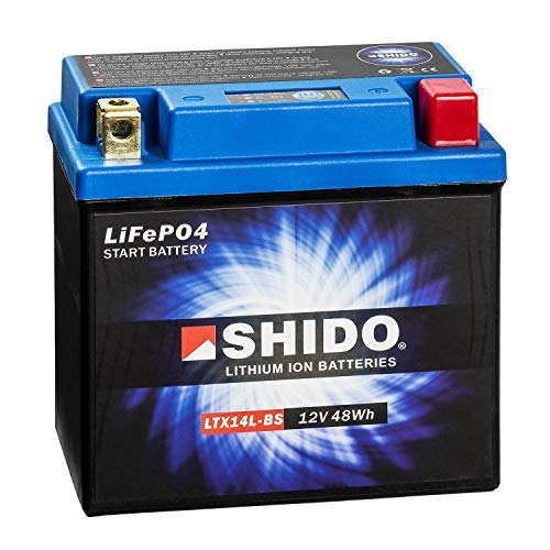 SHIDO LTX14L-BS LION -S- Batería de ion de litio, color azul