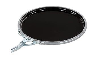 Black 5 Gallon Capacity 1 Pack Vestil Pail-STL-RI Steel Open Head Pail with Handle