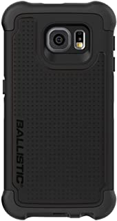 Ballistic Galaxy S6 Case [Tough Jacket ] Heavy Duty Six-sided Drop Protection [Black] 7ft Drop Test Certified Case, Rugged Protective Case for Samsung Galaxy S6