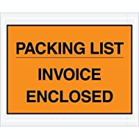 Aviditi PL417 Envelope Packing List/Invoice Enclosed 4-1/2 Length x 5-1/2 Width Orange (Case of 1000) [並行輸入品]
