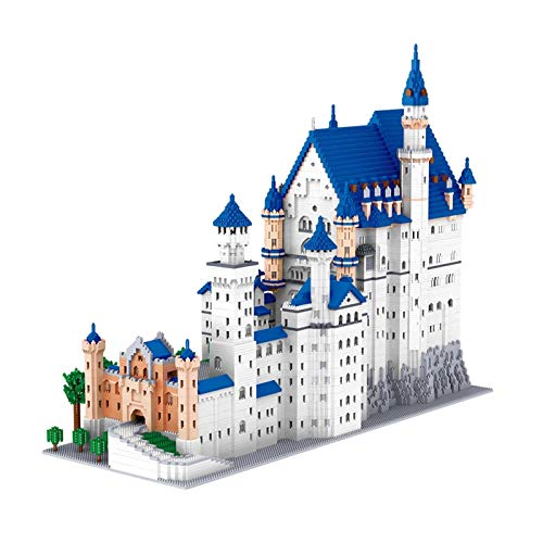 Mawwiv Micro Mini Building Bricks New Swan Stone Castle Model Set (11810pcs) Famous Architecture Toys Gifts for Kid and Adult