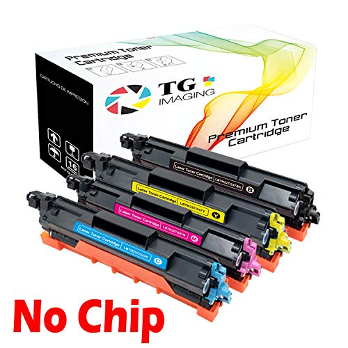 TG Imaging Compatible Toner Replacement for Brother TN223/TN227 (No Chip) (Black, Cyan, Magenta, Yellow, 4-Pack)