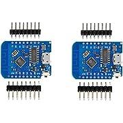 HiLetgo 2pcs Wemos D1 Mini Development Board ESP8285 V1.0.0 1MB Flash Lite Wireless WiFi Internet Development Board Wemos D1 Mini ESP8285