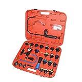 ZTBXQ Suministros para el hogar Probador de presión del radiador y Kit de Sistema de enfriamiento Universal de Tipo vacío Probador de Tanque de Agua para automóvil 28 Piezas