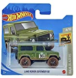 Hot-Wheels Land Rover Defender 90 (verde) 4/10 Baja Blazers 2021 - 32/250 (tarjeta corta) GRX66