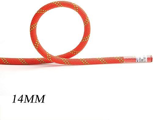LIZIPYS Cordes Corde d'escalade Corde Statique Escalade en Plein air Rescue Corde de Travail aérien Corde de sécurité Corde résistante à l'usure 12mm (0.47in)   14mm (0.55in)