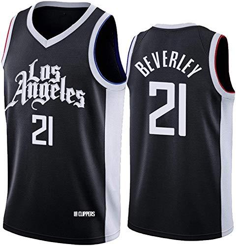WSWZ Maglia da Basket NBA da Uomo - Patrick Beverley Maglie NBA 21# Los Angeles Clippers - T-Shirt Unisex Comoda da Basket Sportiva Canotta,XXL(185~190CM/95~110KG)