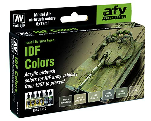 Vallejo 071210 Farbset, IDF, 1957 bis heute,6x 17 ml