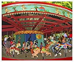 Image: The Gallery Wrap Store | Carousel Horse Merry Go Round Decor