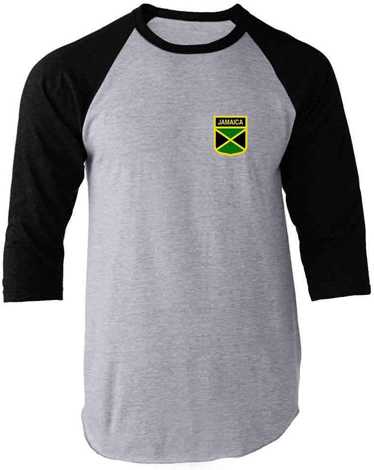 Jamaica Soccer Retro National Team Raglan Baseball Tee Shirt