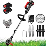 TIANMIAOTIAN 1680w Stringless TrimmerBattery Powered 7.5ah Cordless Weed TrimmersAdjustable Lawn Edgers Electricfor Garden,farmland Cut Grass MachineEdger Lawn Tool