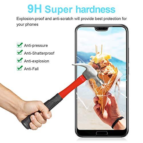 CRXOOX [3 Stück] Panzerglas Schutzfolie für Huawei Honor 10, [Anti-Kratzer/Anti-Öl] [Einfache Installation] [Blasenfrei] [3D Touch Kompatibel/9H Härte] - für Huawei Honor 10 - Transparent - 3