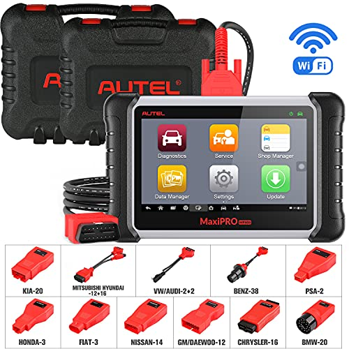 Autel MaxiPRO MP808K OBD2 Diagnostic Tool, 2021 Newest Upgraded of MP808 & DS808Equal to MS906, Bi-Directional Scanner with 30+ Services, ABS Brake Bleed, SRS, Oil Reset, EPB, SAS, DPF, BMS