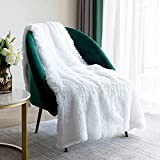 Throw Blanket for Couch 50' x 60',Soft Bedding White Fuzzy Blanket Lightweight Fluffy Blanket for Baby,Bed,Sofa Cover White Faux Fur Blanket