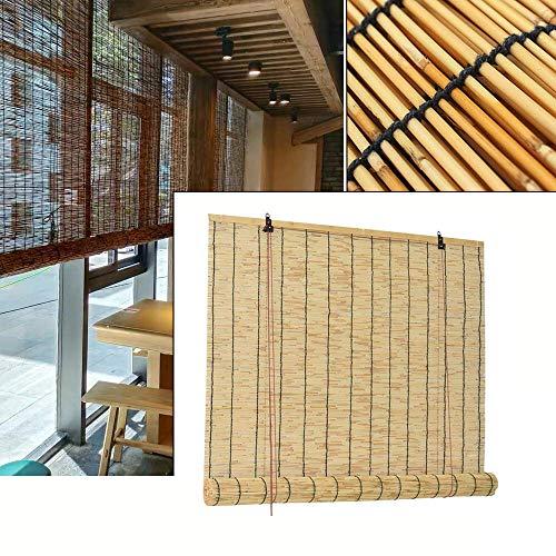 LNDDP Bambus Jalousien-Tür Rollo, natürlich, Partydekoration im Freien, Beschattung, um den Raum kühl zu halten, Fenster Rollo Sichtschutzfenster