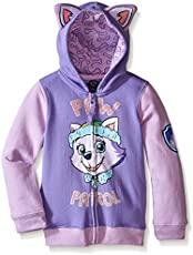 Nickelodeon Paw Patrol Little Girls' Everest Toddler Hoodie, Lilac/Purple, 4T