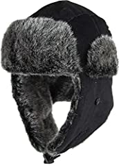 Made of 100% Polyester Trapper Hat with Ear Flaps