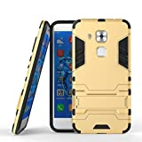 Coque Huawei Nova/G9 Plus, CHcase Double Couche Étui Rigide avec Fonction Stand pour Huawei Nova/G9 Plus Étui -Gold Armure