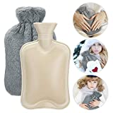 EXTSUD Hot Water Bottles, 2L Capacity Cooling Cold Hot Water Bottle with Pure