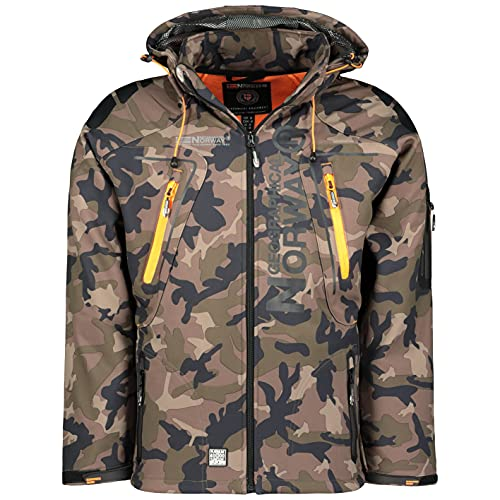 Geographical Norway Tambour Chaqueta Softshell Hombre - Caqui/Naranja, S