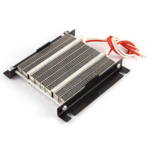 sourcingmap® 24V 500W 210 centígrados PTC Calefacción resistencia de calor grande de la energía de la placa de metal w Hoder