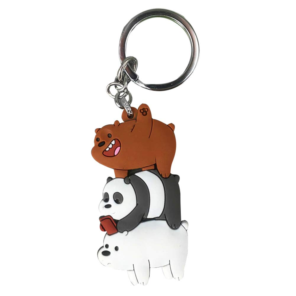 Car Tobby Cute We Bare Bears Figures Keychain Keyring Grizzly Panda Ice Bear Cartoon Pendants Animal Series Silica Gel Key Ring Toy Gift H03 Buy Online In Guernsey At Guernsey Desertcart Com Productid 151046118