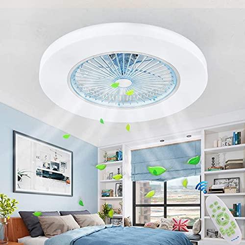 dh-9 Luz de Techo LED Ventilador de Techo con Ventilador de iluminación Ventilador de Techo Luz Regulable Control Remoto Velocidad de Viento Ajustable Lámpara de Techo LED