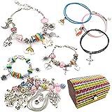 DMAXUN Kit para Hacer Pulseras niñas con dijes para niñas 70 Piezas de joyería DIY Arts Craft...