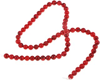 IPOTCH Cuentas de Piedra de Jade Natural Material de Turquesa Perlas Artesanales para Proyectos de Manualidades - 6mm 65pc...
