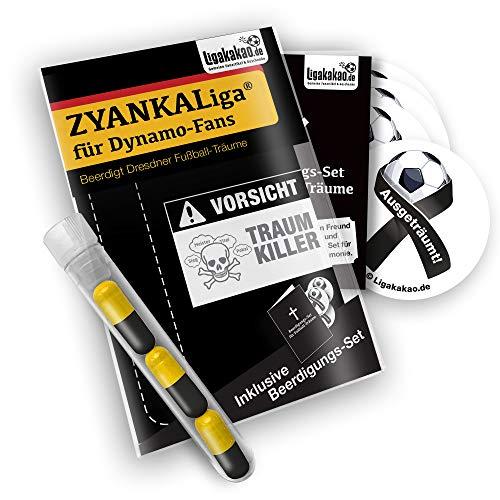 Dynamo Home Trikot ist jetzt ZYANKALIGA für Dynamo Fans by Ligakakao.de Puma Herren Home Shirt Replica mit Logo schwarz-gelb