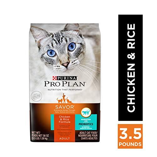 Purina Pro Plan High Protein, Probiotics Dry Cat Food, SAVOR Chicken &...