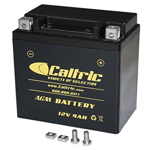 Caltric compatible with Agm Battery Yamaha Raptor 90 Yfm90 Yfm-90 2009 2010 2011 2012 2013