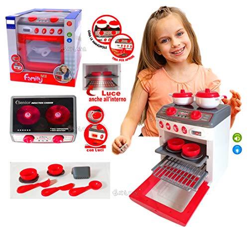 StrMy Forno Giocattolo Cucina con luci e Suoni CM. 25 X 18 Gioco FORNELLI con Accessori