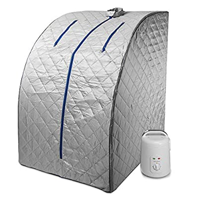 Durasage Lightweight Portable Personal Steam Sauna Spa for Weight Loss, Detox, Relaxation at Home, 60 Minute Timer