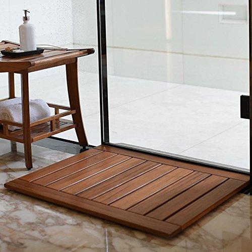 Cuarto de baño ducha Matte–Felpudo de madera de teca 76x 61cm
