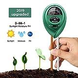 Soil Ph Meter, Soil Tester Kits with Moisture, Light and PH Test for Garden,...