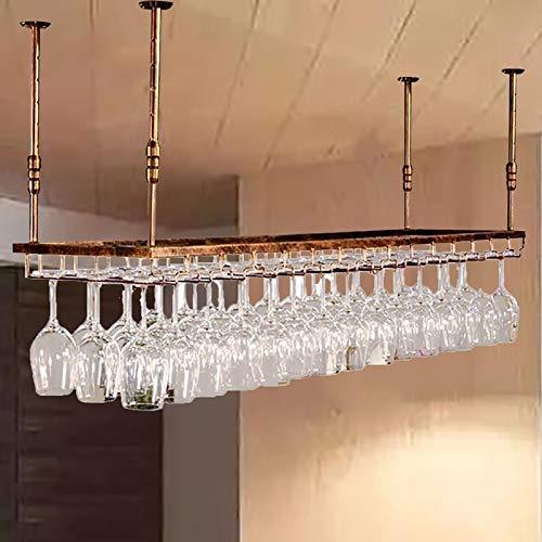 JHGJBJ Weinglashalter, Wandregal Cube Kitchen Bar Bodega, verstellbare Höhe: 30-60 cm, (Size : 90x35cm)
