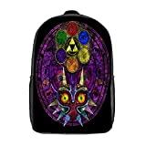 GKGYGZL Travel Laptop Backpack,Majora's Mask Stained Glass,Large Business Water Resistant Anti Theft Computer Daypack Slim Durable
