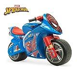 INJUSA - Moto Porteur Winner Spiderman avec Licence de Marque Officielle Recommandée pour les Enfants de +3 ans avec Roues Larges et Poignée de Transport