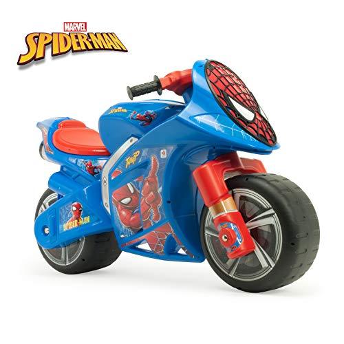 INJUSA - Moto Correpasillos Wind Spiderman XL con Licencia Oficial de Marca Recomendado para Niños +3 Años con Ruedas Anchas y Asa de Transporte