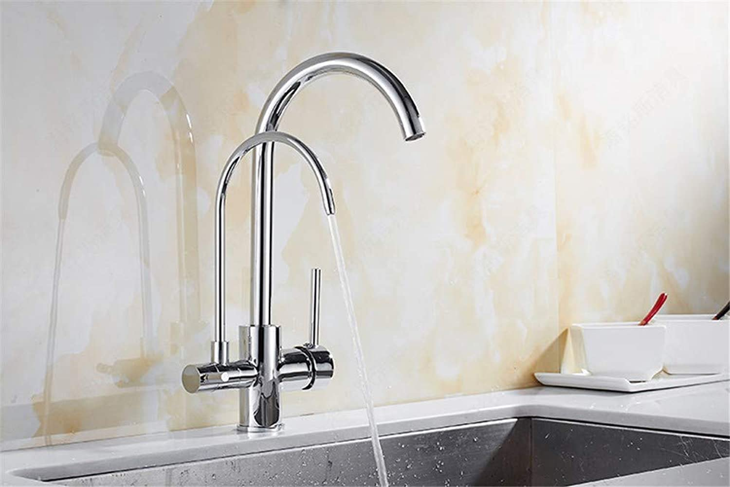 Sink Tap 3-in-1 Electroplating Hot and Cold Kitchen Water Purifier Faucet